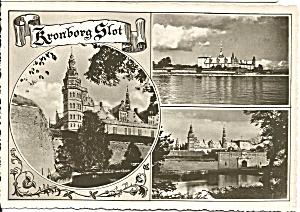 Helsing Denmark Kronborg Castle Three Views Postcard cs9069 (Image1)