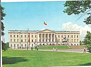Oslo Norway The Royal Palace Postcard Cs9073
