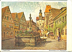 Rothenburg Ob Der Tauber Germany Postcard Of A Print Cs9082