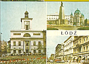 Lodz Poland Three Views Street Scene Cars,bus