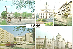 Lodz Poland Five Views Cars