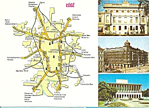 Lodz Poland  Three  Views and Map cs9124 (Image1)