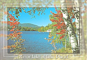Lake Placid Ny Mirror Lake Postcard Cs9129