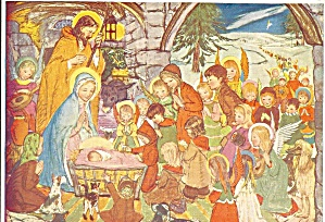 The Nativity by Muriel Dawson Postcard cs9156 (Image1)