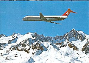 Swissair DC-9 over the Swiss Alps cs9210 (Image1)