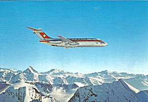 Swissair DC-9 over the  Alpes Suisses cs9211 (Image1)