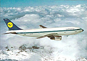 Lufthansa A-300 in Flight Above Mountains cs9282 (Image1)