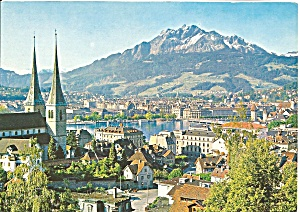 Lucerne Switzerland With Pilatus Cs9352