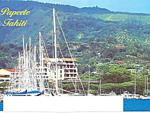 Papeete Harbor Tahiti Sailing Craft cs9411 (Image1)