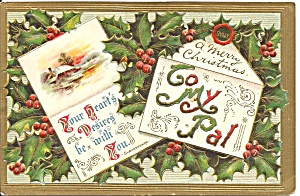 Merry Christmas to my Pal Vintage Card (Image1)
