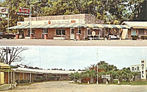Folkston GA R and R Motel and Restaurant Postcard cs9546 (Image1)