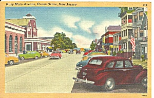 Ocean Grove Nj Main Street Cs9583 Cars Of 1940s