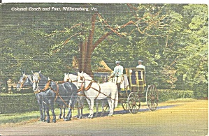 Williamsburg Va Colonial Coach And Four Cs9592