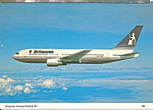 Britannia Airways 767 Jetliner in Flight cs9595 (Image1)