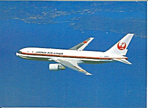 Japan Air Lines 767 Jetliner In Flight Cs9597
