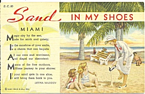 Miami Fl , Sand In My Shoes Leitha Madden 1939