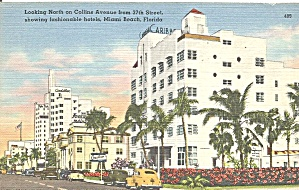 Miami Beach Florida Collins Ave From 37th Street Hotels Cs9669