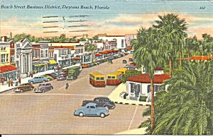 Daytona Beach,fl Beach St Business District Cars 40s Cs9679