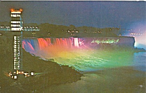 Niagara Falls View Of The Observation Tower At Night Cs9695