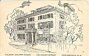 Portsmouth NH Folsom Salter House Postcard cs9701 (Image1)
