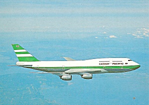 Cathay Pacific 747-367 Jetliner in Flight cs9756 (Image1)
