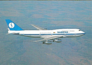 Sabena Airlines 747-329 jetliner in Flight cs9778 (Image1)