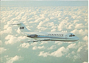 Linjeflyg Fokker F-28-4000 Jetliner in Flight  cs9801 (Image1)