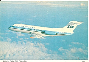 Linjeflyg Fokker F-28 Jetliner in Flight cs9802 (Image1)