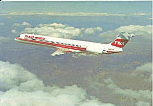 TWA MD-82 N902TW Jetliner in Flight cs9811 (Image1)