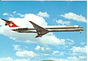 Swissair DC-9-81 Jetliner in Flight cs9814 (Image1)