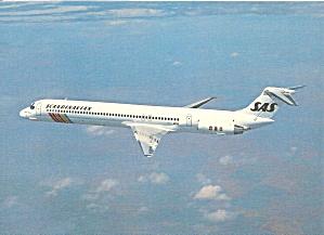 SAS Scandinavian MD-81 Jetliner in Flight cs9815 (Image1)