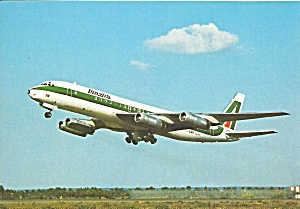 Alitalia DC-8-62 Jetliner on Takeoff cs9897 (Image1)