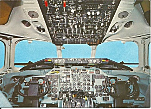 Cockpit View of a Swissair DC 9 cs9933 (Image1)