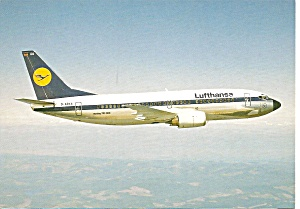 Lufthansa 737-330 Jetliner in Flight cs9963 (Image1)