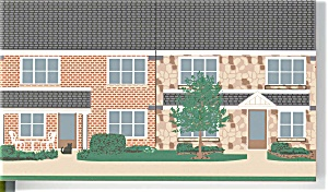 Cat's Meow Brethern Village Series Townhouse (Image1)