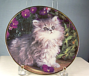Franklin Mint Purrfection Cat Plate (Image1)