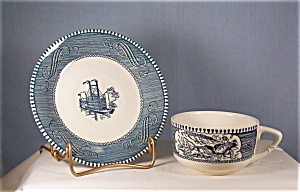 Currier And Ives Cup And Saucer