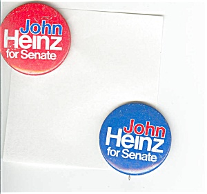 John Heinz for Senate Poltical Pins (Image1)