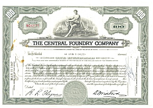 Central Foundary Company Stock Certificate 1947 d1831 (Image1)