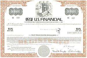 US Financial Debenture Certificate 1971 d1832 (Image1)
