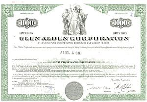 Glen Alden Corp., Debenture Certificate 1970 (Image1)