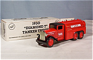 Ertl Bank 1930 Diamond T Tanker Coin Bank Leffler (Image1)