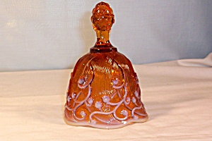 Fenton Lily of the Valley Cameo Opalescent Bell (Image1)