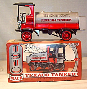 Ertl Texaco 1910 Mack Tank Truck Diecast Coin Bank (Image1)