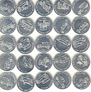 Sunoco Antique Car Coin Series 1 (25) Coins (Image1)