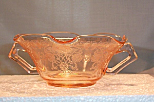 Depression Glass Florentine No. 2 Pink Cream Soup (Image1)