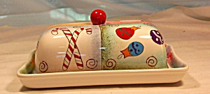 Pfaltzgraff Holiday Magic Butter Dish (Image1)