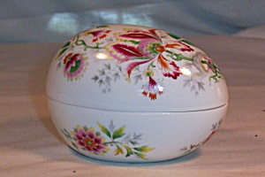 Limoges France Flowered China Egg (Image1)