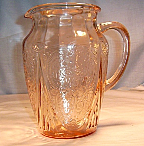 Royal Lace  Pink Pitcher 8 in. w/Lip (Image1)
