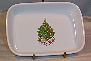 American Airlines China Dish Christmas Tree Decoration